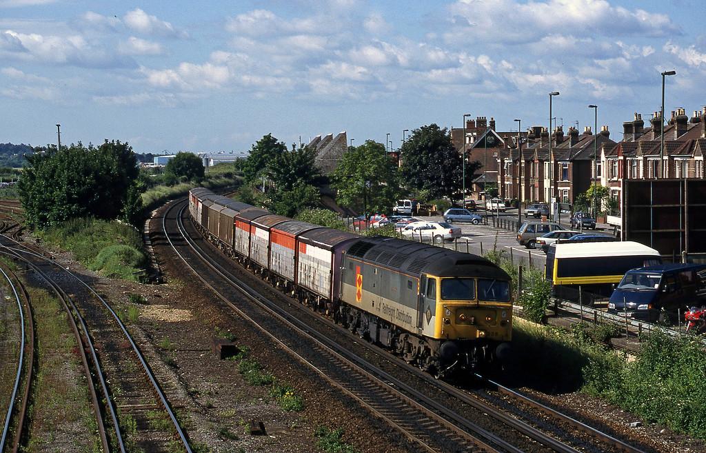 47338, 09.02 Marchwood-Eastleigh Yard, Eastleigh, 12-6-98.