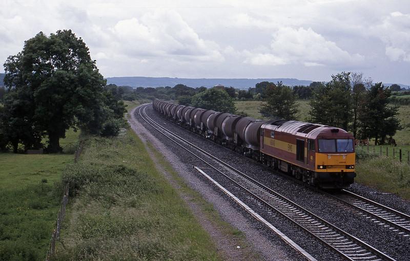 60048, 09.40 Burngullow-Newport Alexandra Dock Junction, Cogload, 10-6-98.