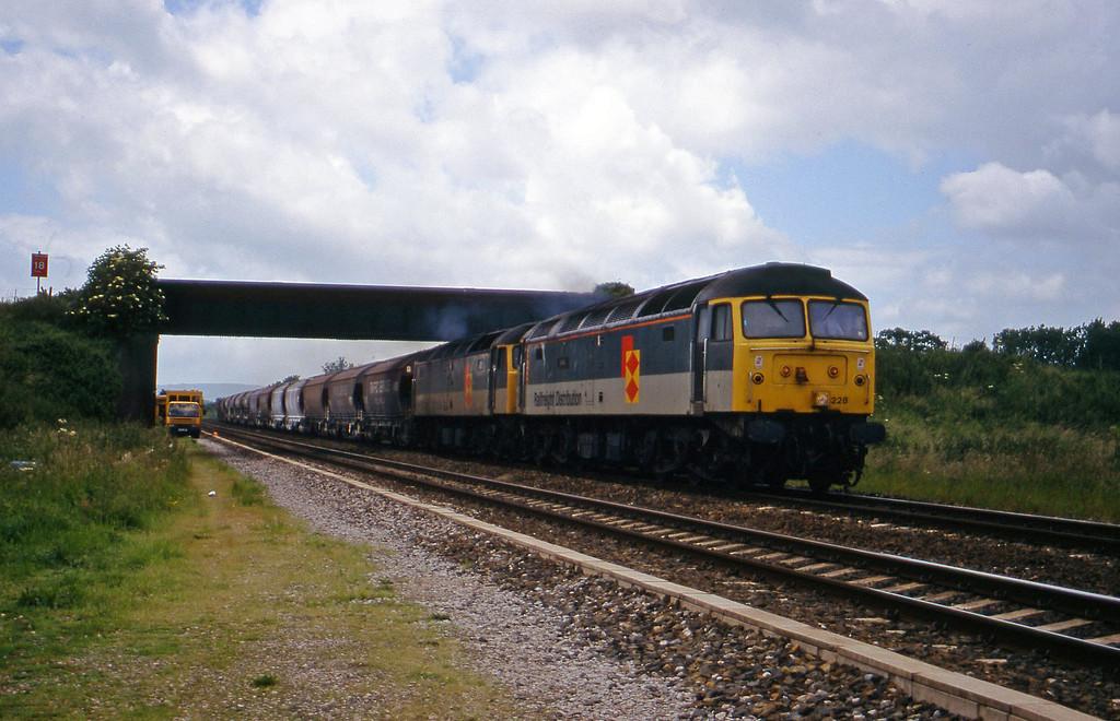 47228/47051, 10.35 Exeter Riverside Yard-Dollands Moor, Cogload, 9-6-98.