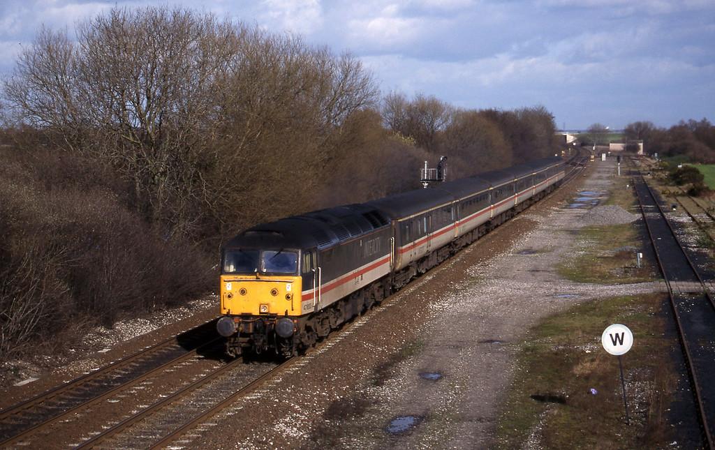 47853, southbound, Stenson Junction, near Derby, 4-3-98.