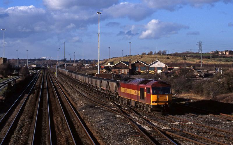60026, mgr eastbound, Toton, Nottingham, 4-3-98.