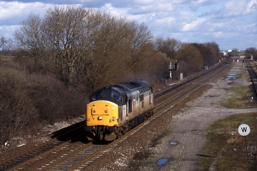 37683, light north to east, Stenson Junction, near Derby, 4-3-98.
