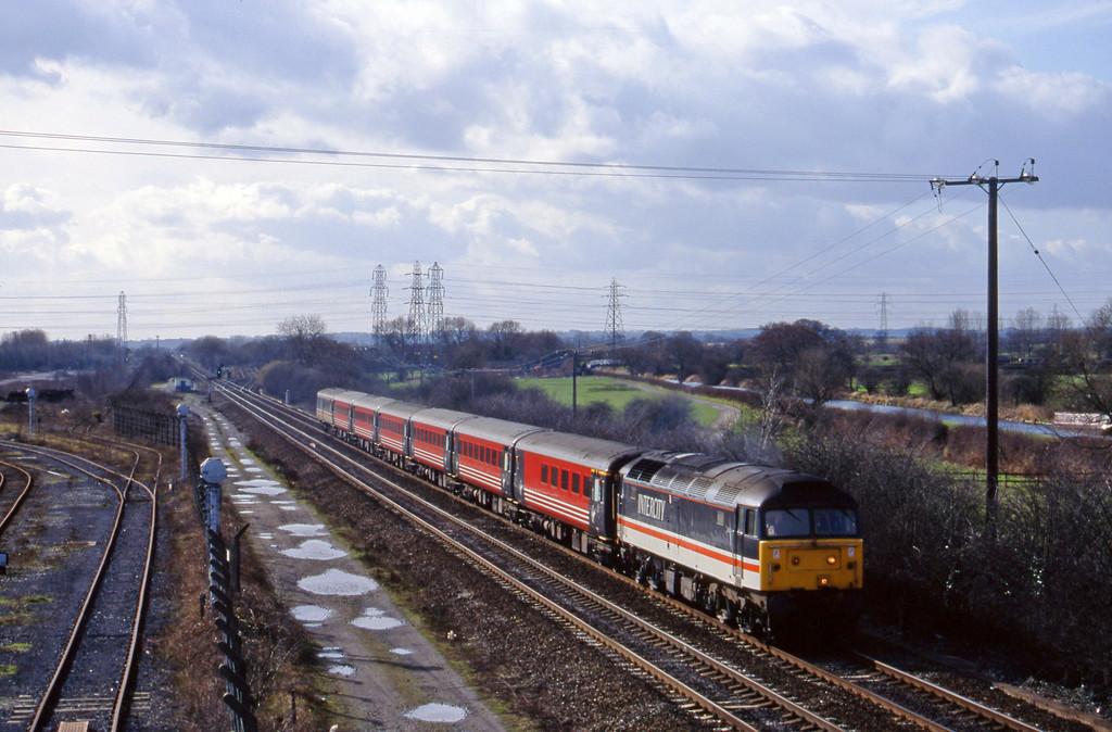 47826, northbound, Stenson Junction, near Derby, 4-3-98.