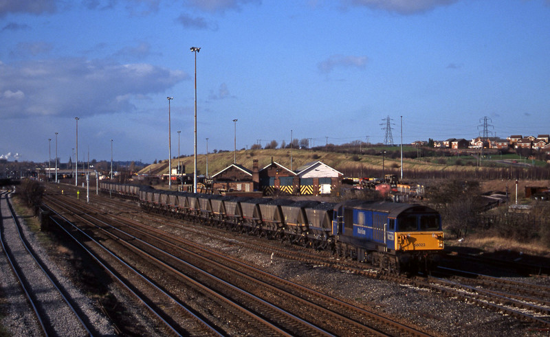 58023, mgr southbound, Toton, Nottingham, 4-3-98.