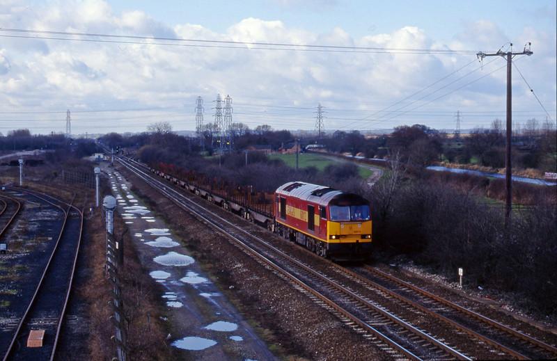 60012, 09.58 Etruria-Tees, Stenson Junction, near Derby, 4-3-98.