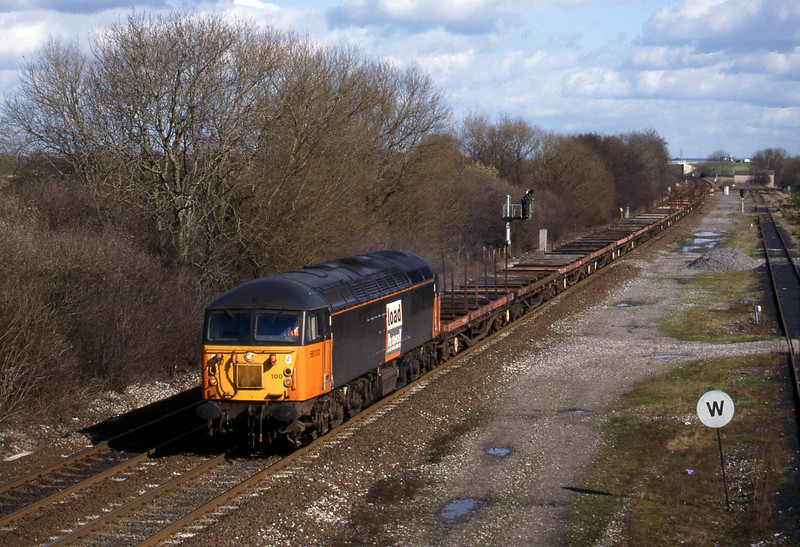56100. 08.37 Tees-Etruria, Stenson Junction, near Derby, 4-3-98.