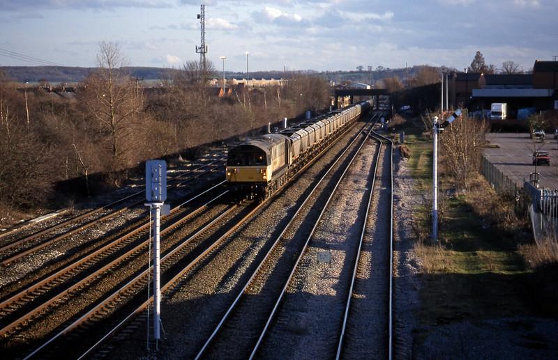 58025, mgr northbound, Toton, Nottingham, 4-3-98.