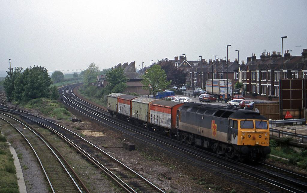 47344, 09.02 Marchwood-Eastleigh Yard, Eastleigh, 12-5-98.