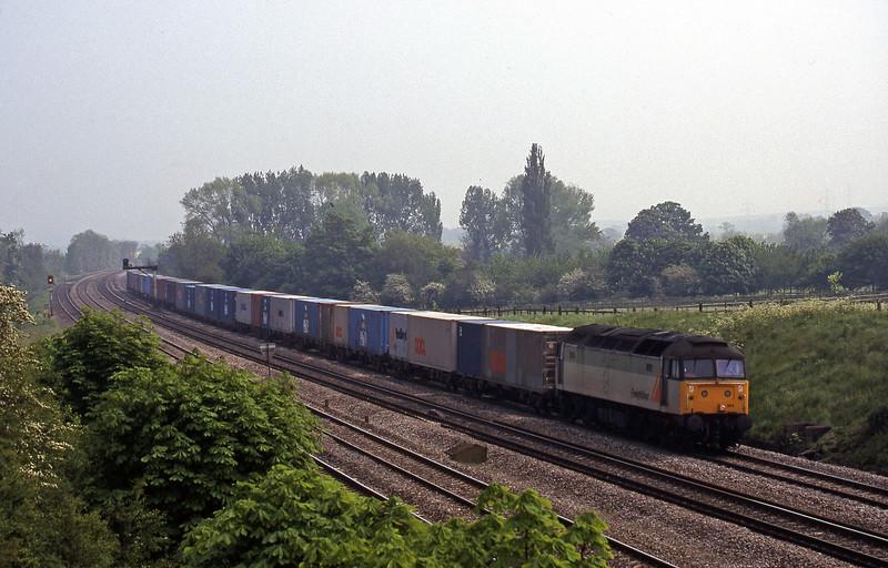 47354, 12.23 Southampton-Leeds, South Moreton, near Didcot, 12-5-98.