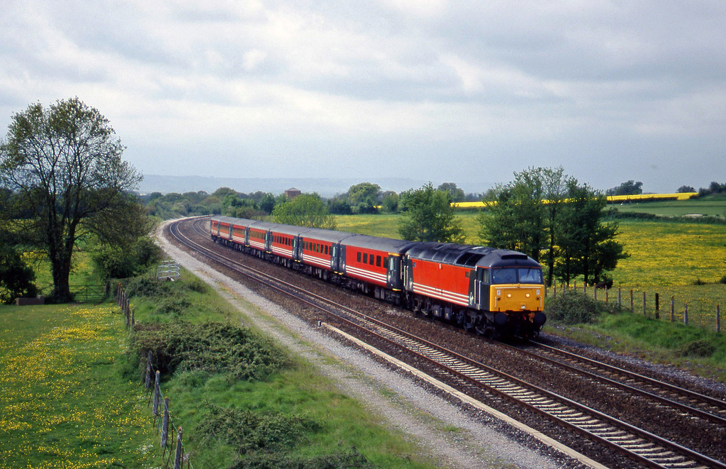 47806, 10.44 Plymouth-Manchester Piccadilly, Cogload, 5-5-98.
