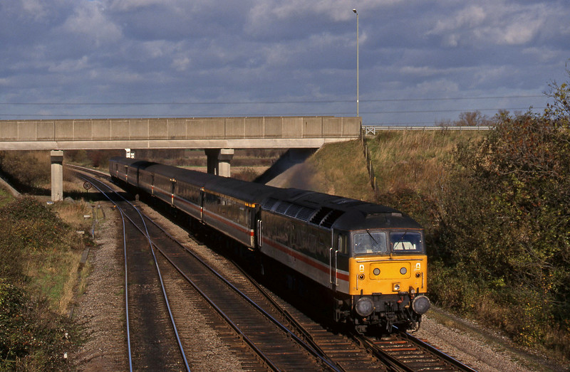 47847, up passenger, Didcot North Junction, 10-11-98.