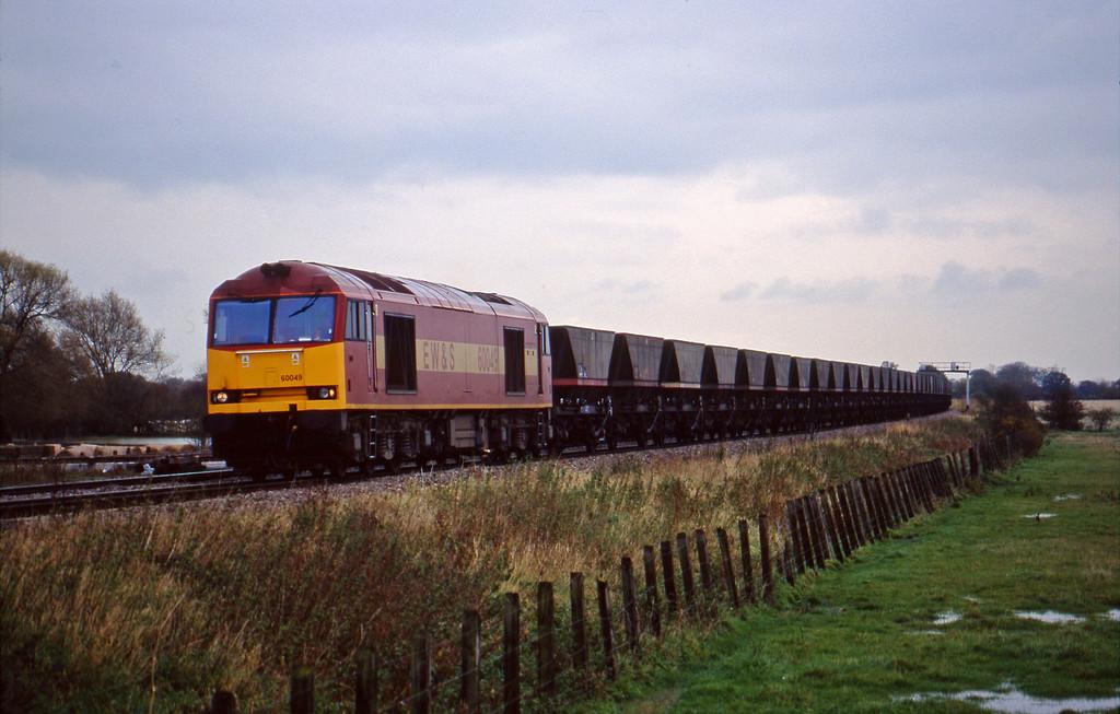 60049, Didcot Power Station-Avonmouth Bulk Handling Terminal, Shrivenham, near Swindon, 3-11-98.