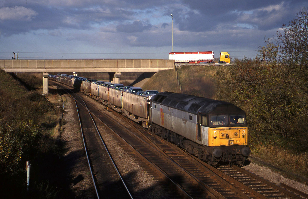 47362, 11.37 Washwood Heath-Dollands Moor, Didcot North Junction, 10-11-98.