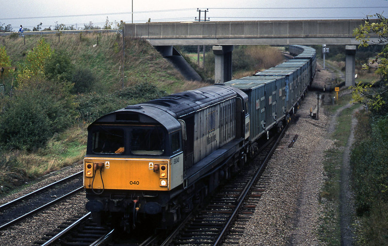 58040, 11.11 Calvert-Bath RTS, Didcot North Junction, 21-10-98.