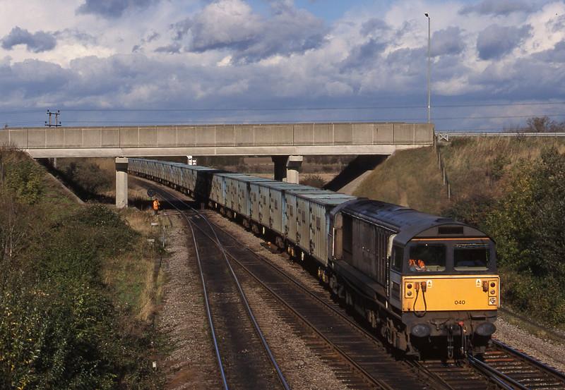 58040, 11.11 Calvert-Bath RTS, Didcot North Junction, 26-10-98.