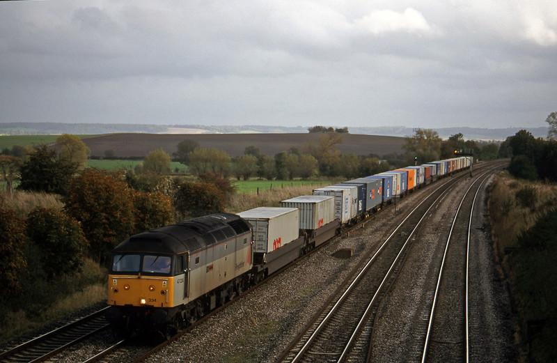 47334, 12.25 Southampton-Leeds, South Moreton, near Didcot, 21-10-98.