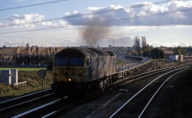 47316, 11.24 Southampton-Washwood Heath, Didcot North Junction, 26-10-98.