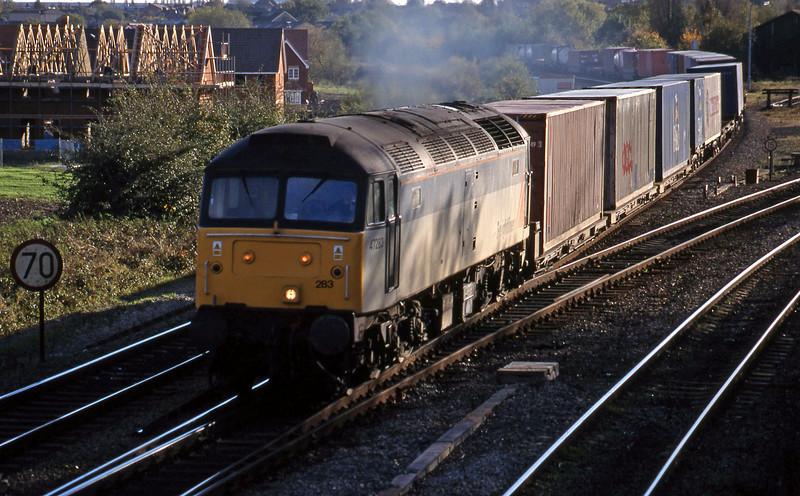 47283, 12.25 Southampton-Leeds, Didcot North Junction, 26-10-98.