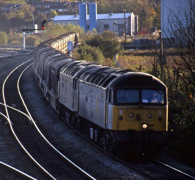 47280/47286, 14.15 Swindon-Longbridge, Didcot North Junction, 26-10-98.
