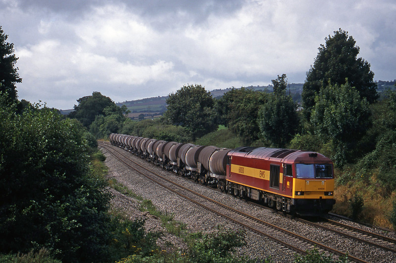 60030, 09.40 Burngullow-Newport Alexandra Dock Junction Yard, Whiteball, 5-9-98.