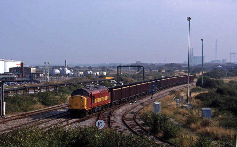37703, 07.08 Didcot Power Station-Avonmouth Bulk Handling Terminal, Hallen Marsh Junction, 3-9-98.