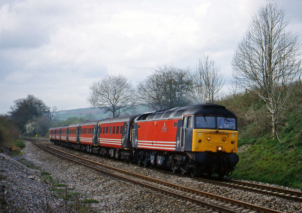 47845, 11.50 Plymouth-Liverpool Lime Street, Whiteball, 5-4-99.
