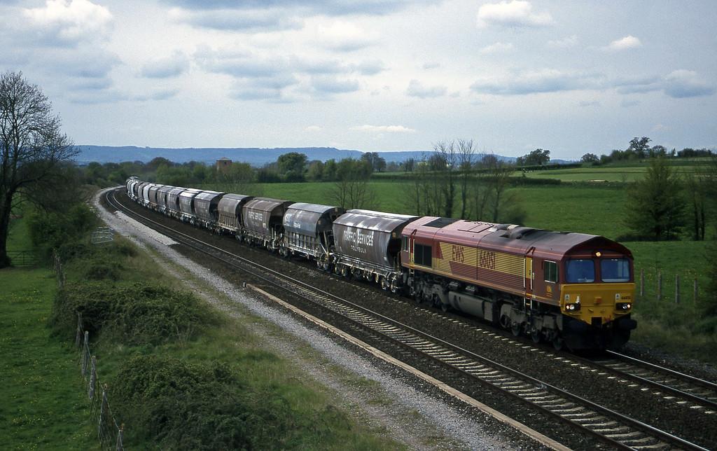 66051, 10.35 Exeter Riverside Yard-Dollands Moor, Cogload, 19-4-99.