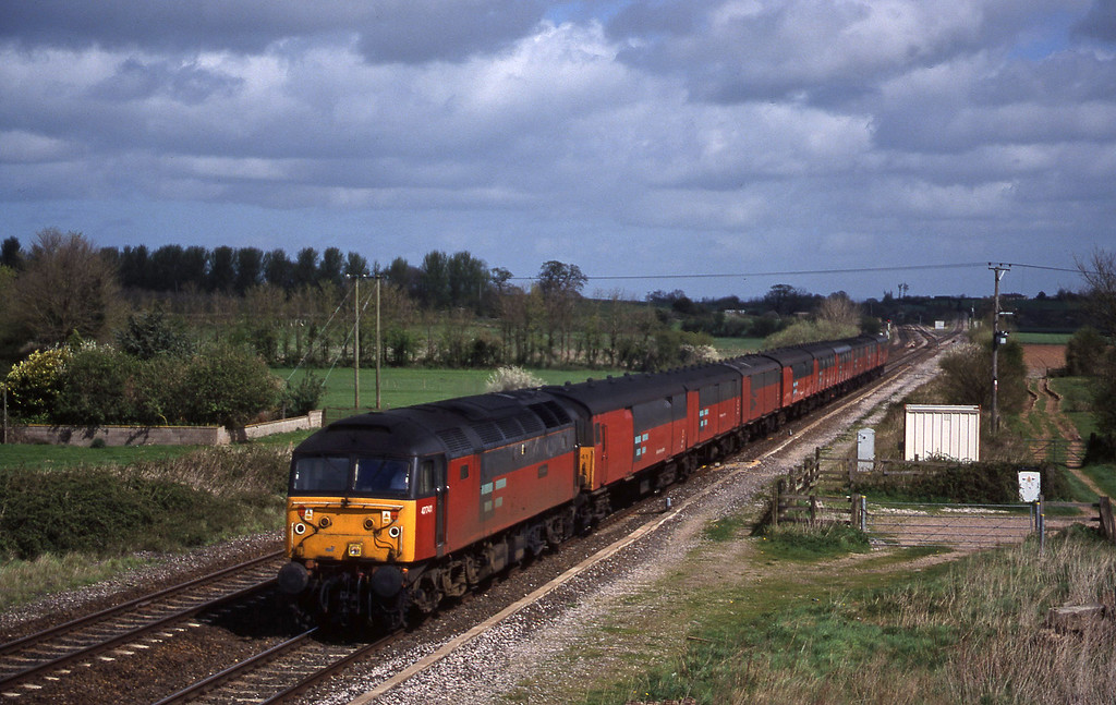 47741, 12.15 Bristol Temple Meads-Plymouth, Cogload, 6-4-99.