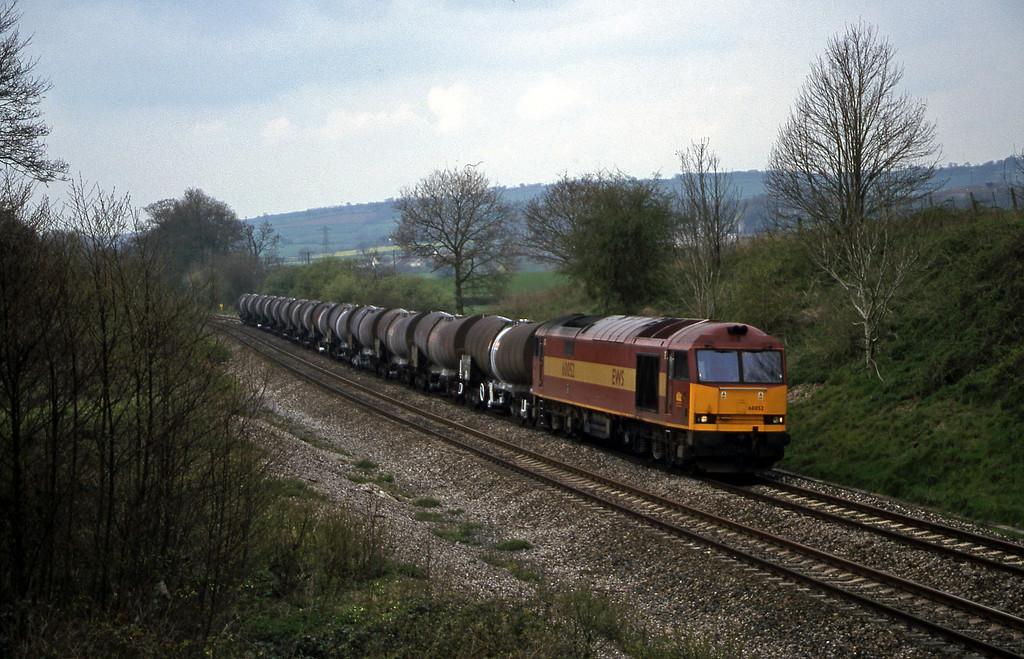 60052, 09.40 Burngullow-Newport Alexandra Dock Junction, Whiteball, 17-4-99.