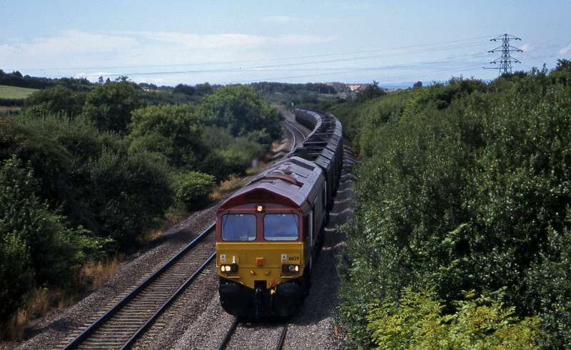 66129, 10.03 Parc Slip-Didcot Power Station, Stormy Down, near Bridgend, 3-8-99.