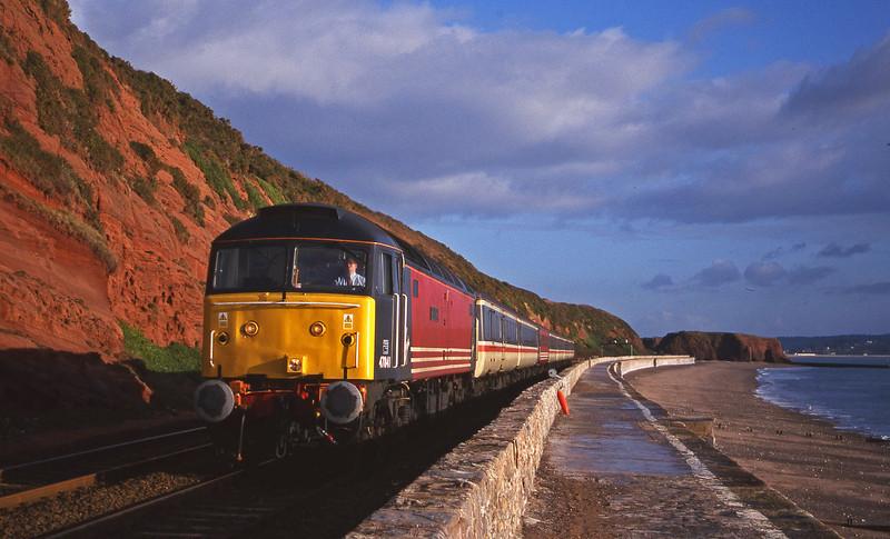 47841, 06.36 Wolverhampton-Plymouth, Dawlish, 4-12-1999.