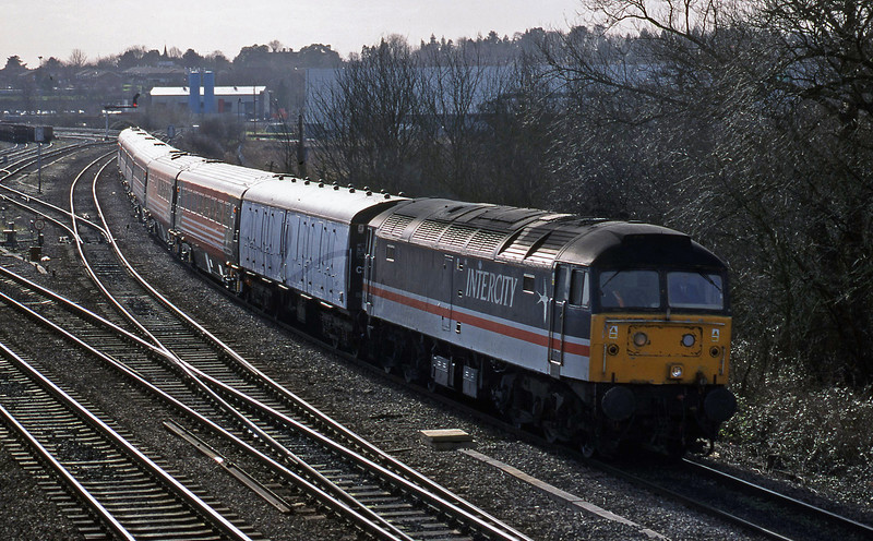 47849, down Virgin stock, Didcot North Junction, 16-2-99.