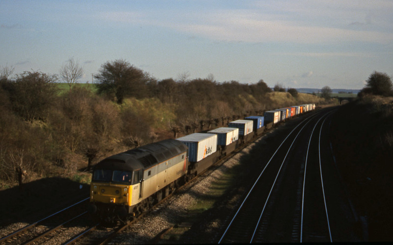 47377, 12.25 Southampton-Leeds, South Moreton, near Didcot, 9-2-99.