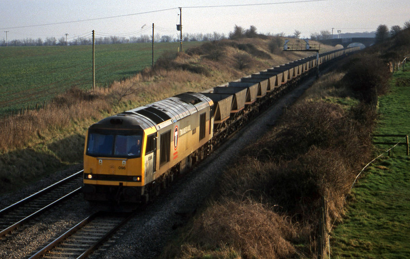60096, Didcot Power Station-Avonmouth Bulk Handling Terminal, Bourton, near Swindon, 2-2-99.
