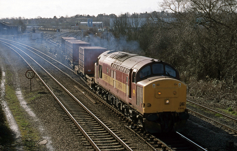 37694, 12.20 Didcot Yard-Bicester, Didcot North Junction, 23-2-99.