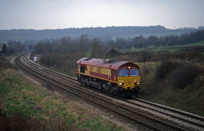 66057, crew trainer up light, Brentry, Bristol, 24-2-99.