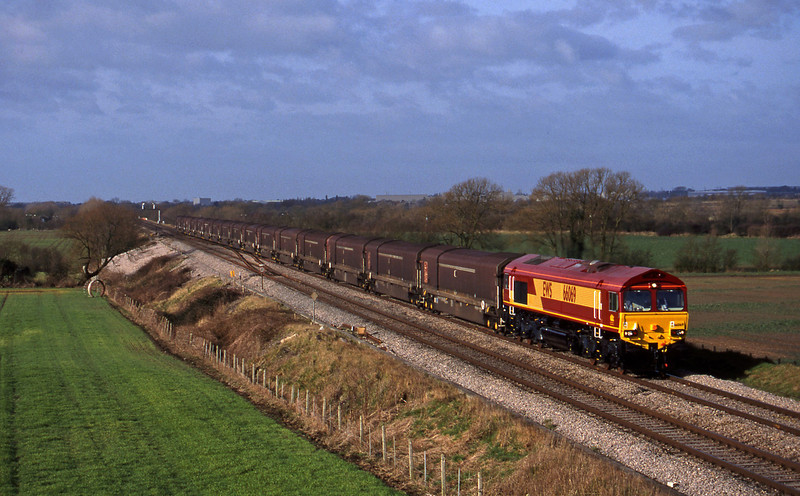 66069, 08.15 Swindon-Longbridge, Bourton, near Swindon, 16-2-99.