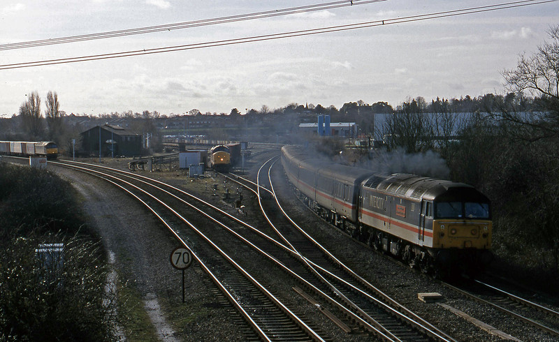 47841, 09.15 Brighton-Edinburgh, Didcot North Junction, 23-2-99.