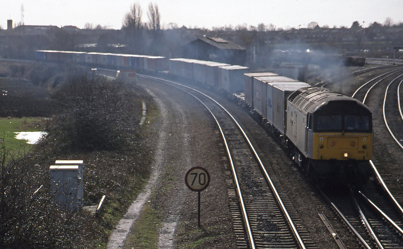 47206, 10.19 Southampton Maritime-Crewe Basford Hall, Didcot North Junction, 16-2-99.