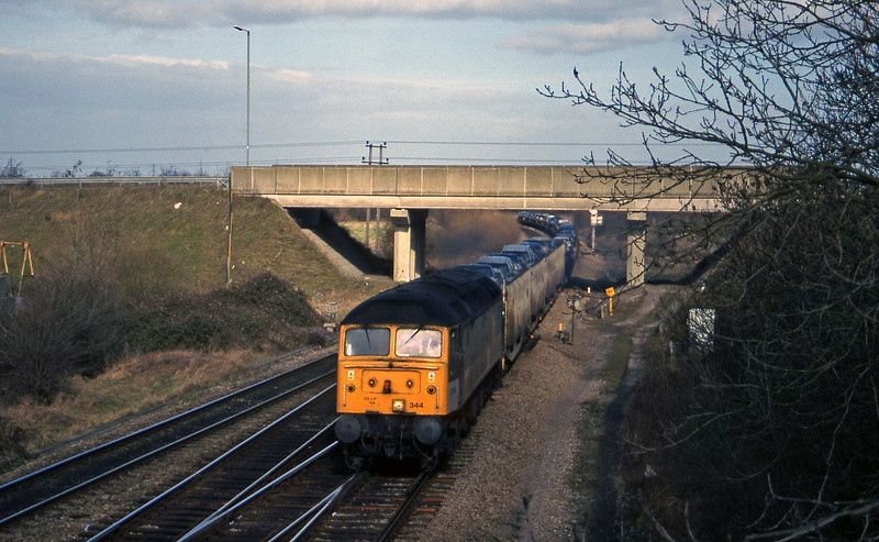 47344, 08.00 Washwood Heath-Dollands Moor, Didcot North Junction, 16-2-99.
