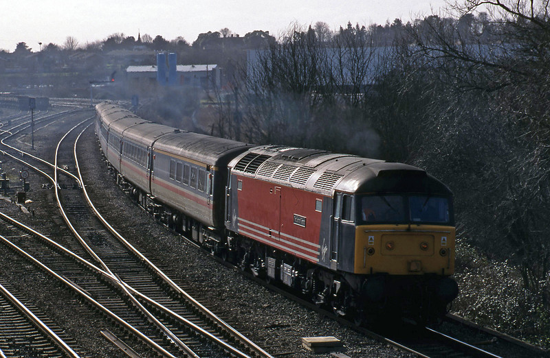 47807, 09.15 Brighton-Edinburgh, Didcot North Junction, 16-2-99.