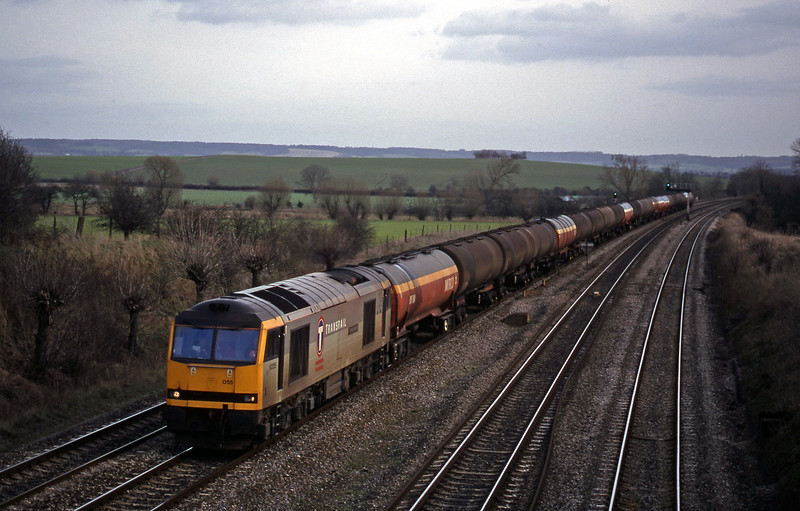 60055, 13.40 Theale-Robeston, South Moreton, near Didcot, 16-2-99.