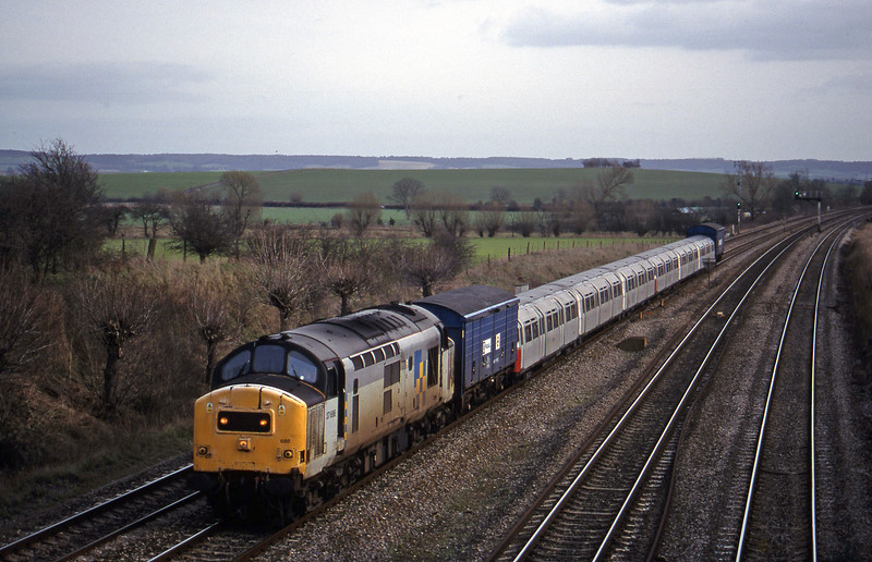 37686, 11.30 West Ruislip-Didcot Yard, South Moreton, near Didcot, 16-2-99.