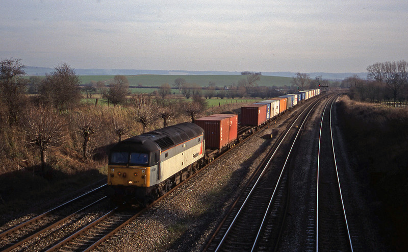 47367, 12.25 Southampton-Leeds, South Moreton, near Didcot, 2-2-99.