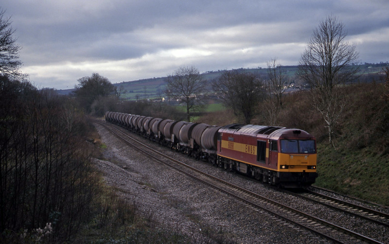 60098, 09.40 Burngullow-Newport Alexandra Dock Junction, Whiteball, 27-1-99.