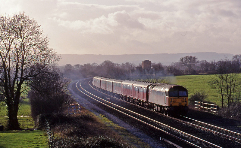 47782, 12.44 Plymouth-Glasgow, Cogload, 12-1-99.