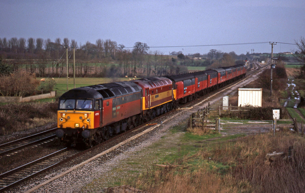 47759/47758, 12.15 Bristol Temple Meads-Plymouth, Cogload, 5-1-99.