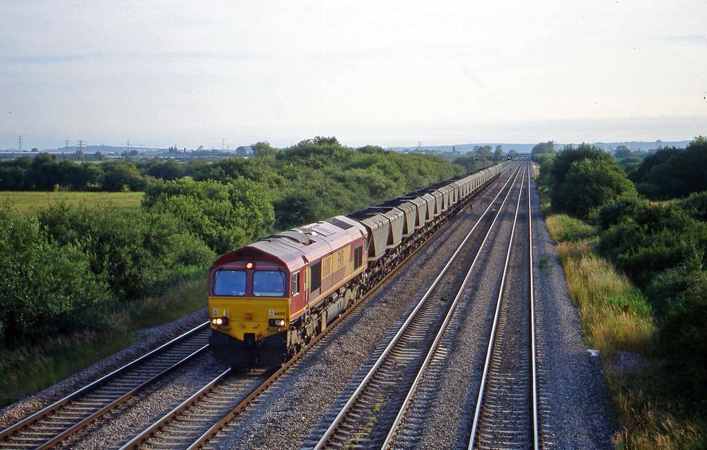 66018, 18.10 Grange Sidings-Llanwern, St Mellons,near Cardiff, 7-7-99.