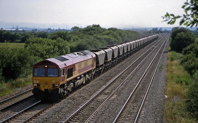 66012, 15.10 Grange Sidings-Llanwern, St Mellons,near Cardiff, 7-7-99.