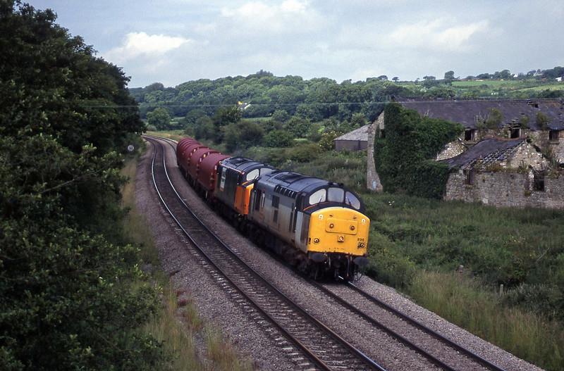 37896/37710, up steel, Llangewydd Court Farm, near Bridgend, 2-7-99.